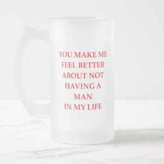 divorced frosted glass beer mug