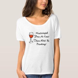 Divorced Hallelujah I'm Free Divorce Wine Party T-Shirt