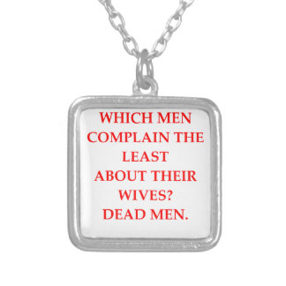 DIVORCED SILVER PLATED NECKLACE