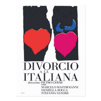 Divorcio a la Italiana Postcard