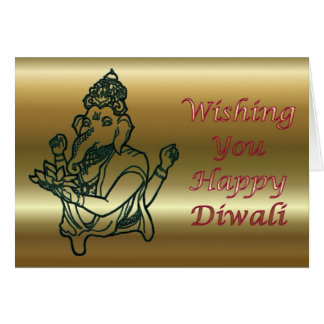 Diwali Indian Festival of Light with Ganesha Card