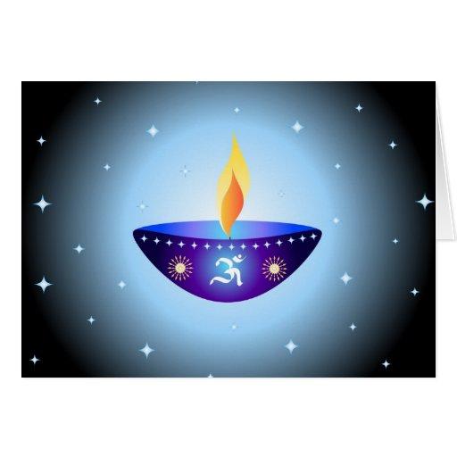 Diwali lamp - Card