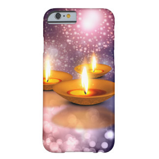 Diwali Lamp oils on glowing fireworks background Barely There iPhone 6 Case