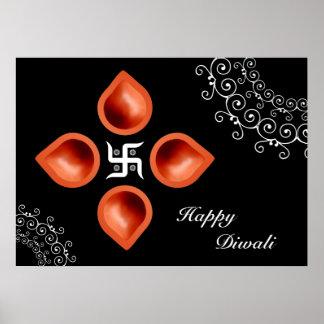 Diwali Lamps Decoration Poster