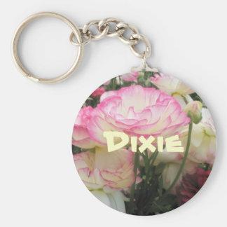 Dixie Basic Round Button Keychain