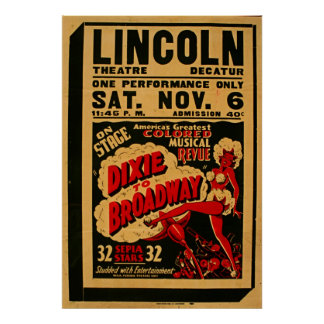 Dixie To Broadway 1937 WPA Vintage Poster