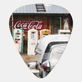 Dixon, New Mexico, United States. Vintage car Guitar Pick