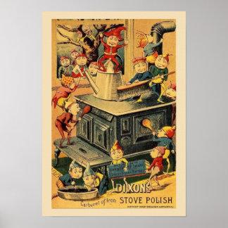 Dixon Stove Polish Pixies Poster