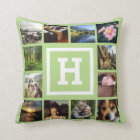 DIY 24 Photos Custom Instagram U Pick Colour Throw Pillow