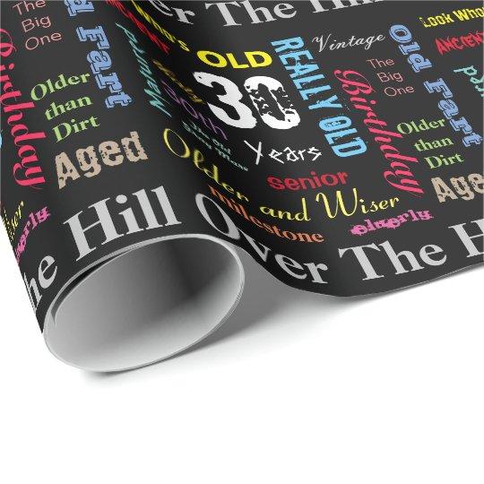 DIY Age | 30th Happy Birthday #2 | Milestone Wrapping Paper