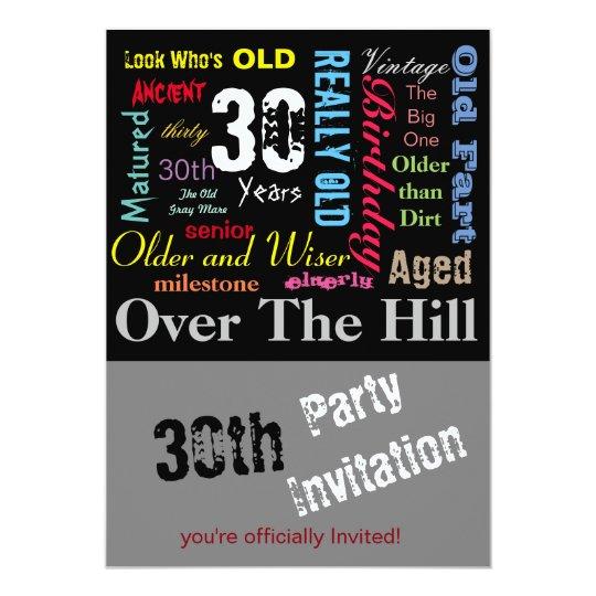 DIY Age | 30th Happy Birthday | Milestone Card