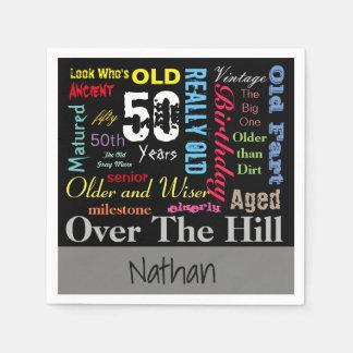 DIY Age | 50th Happy Birthday | Milestone Napkin