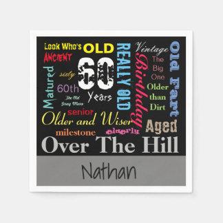 DIY Age | 60th Happy Birthday | Milestone Napkin