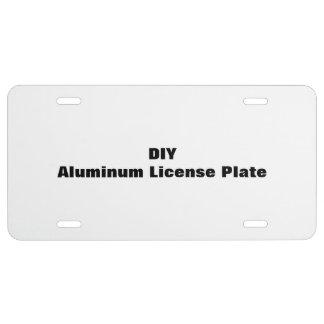 DIY Aluminum License Plate