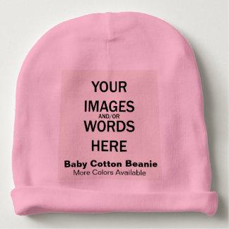 DIY - Baby Cotton Beanie Pink Baby Beanie