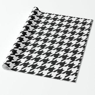 DIY Background XXL White Houndstooth Pattern Black