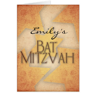 DIY Bat Mitzvah design Card