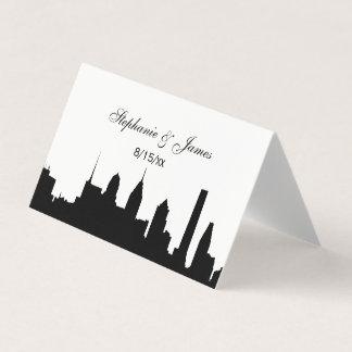 DIY BG Philadelphi Skyline Silhouette Escort Cards