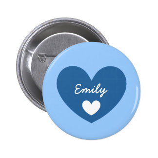 DIY Big Heart EMILY or ANY Name V05 2 Inch Round Button