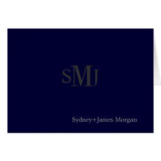 diy color/plain Thank You Cards, wedding monogram Card