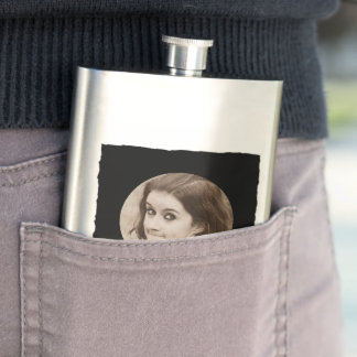 DIY Create Your Own Black Personalized Photo Frame Flasks