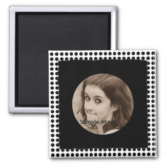 DIY Create Your Own Black Personalized Photo Frame Square Magnet