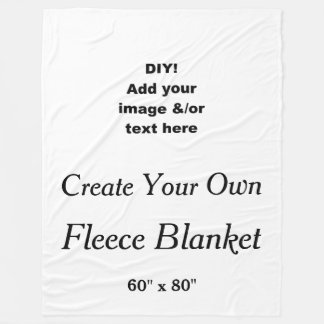 DIY Create Your Own Custom Fleece Blanket V03