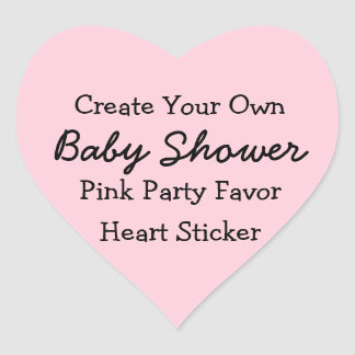 DIY Create Your Own Pink Baby Shower Favor Sticker