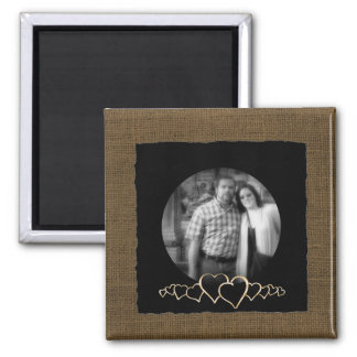 DIY Create Your Own | Rustic Personalized Photo Square Magnet