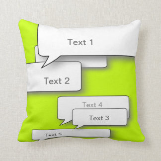DIY CUSTOM DIALOGUE CUSHION, NEON Speech bubble Throw Pillow