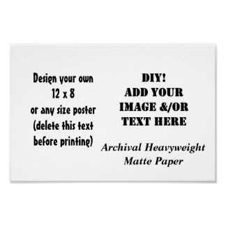 DIY Custom Size Archival Heavyweight Matte Paper Poster