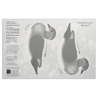 DIY Cut & Sew Plush Female Mandarin Duck Fabric