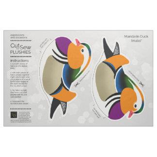 DIY Cut & Sew Plush Male Mandarin Duck Fabric