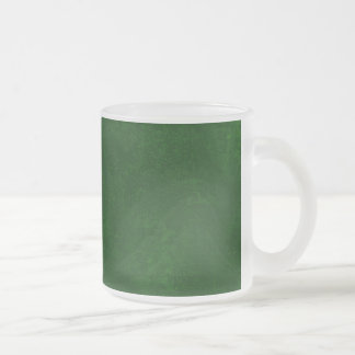 DIY Dark Green Background Custom Home Gift Idea Frosted Glass Mug
