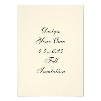 "DIY - Design Your Own 4.4 x 6.25 Felt 4.5"" X 6.25"" Invitation Card"