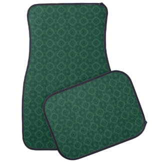 DIY Design Your Own Car Mats V87 GREEN DIAMONDS Car Mat