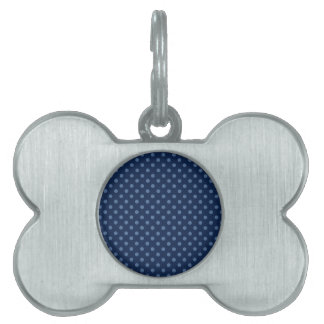 DIY Design Your Own Navy Blue Polka Dot Gift Item Pet ID Tag