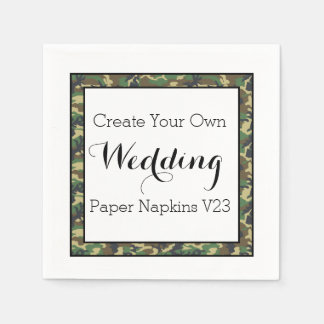 DIY Design Your Own Wedding Paper Napkins V23
