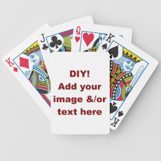 DIY Design Your Own Zazzle Gift Item Bicycle Playing Cards