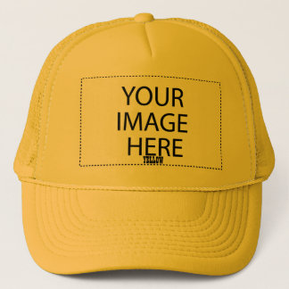 DIY Design Your Own Zazzle Gift Item V05 YELLOW Trucker Hat