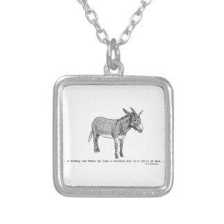 DIY DonkeyUnicorn ver2 Silver Plated Necklace