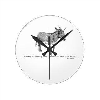 DIY DonkeyUnicorn ver2 Wall Clock