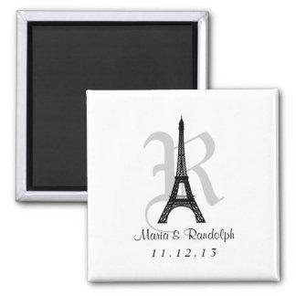 DIY Eiffel Tower Save the Date Monogram magnet