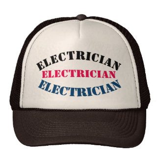 Diy Electrician U can change TEXT STYLE SIZE COLOR Trucker Hat