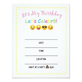 DIY Emoji Birthday Invitation