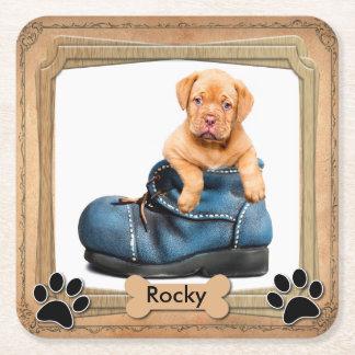 DIY Family Pet Photo Square Paper Coaster
