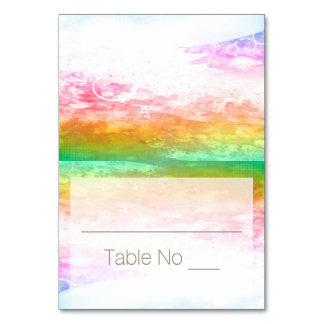 DIY Fold Tented Place Cards Watercolor Multi Table Card
