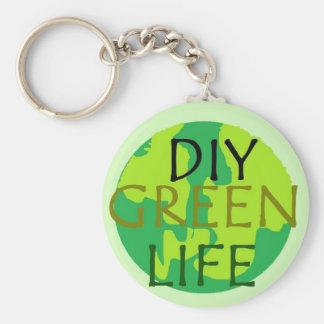 DIY Green Life Globe Keychain