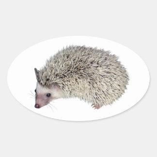 DIY Hedgehog left Oval Sticker