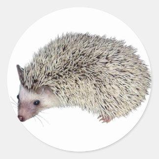 DIY Hedgehog left Round Stickers